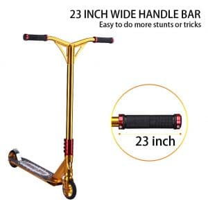 Outon Pro Aluminum Freestyle Scooter details about the handle bar