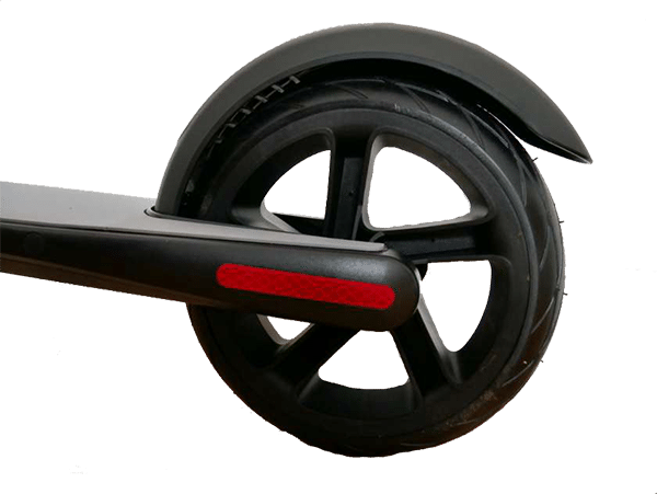 rear wheel of a segway