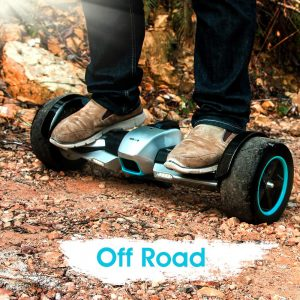F1 hoverboard by gyroor on dirt