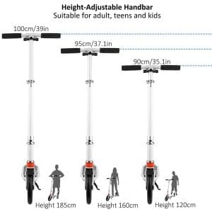 hikole scooter different handlebar height options